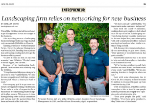 Landscaping firm relies on networking for new business